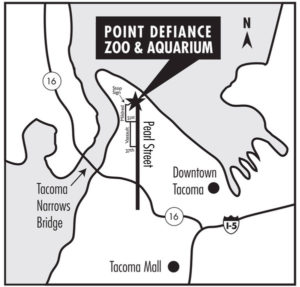 Directions to Point Defiance Zoo: parking, map, bike, bus