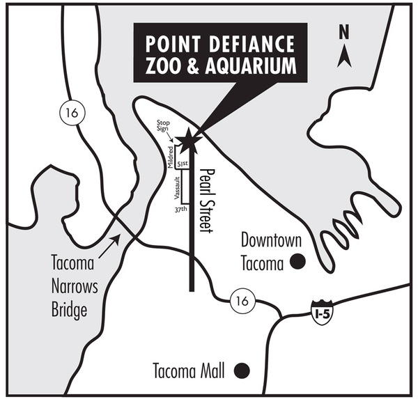 Traffic Map Tacoma.Directions To Point Defiance Zoo Parking Map Bike Bus Location
