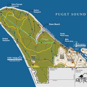 Map of Point Defiance Park for Plan your day
