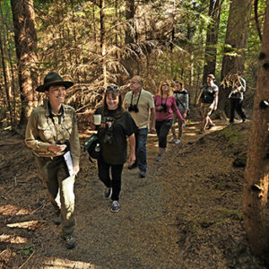 Ranger leading walk in point Defiance park