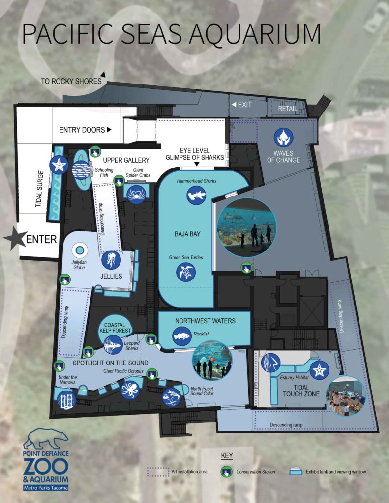 Map of Pacific Seas Aquarium