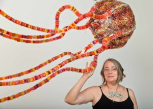Kait Rhoads and glass jellyfish