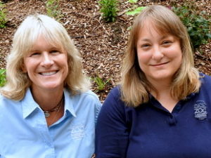 Karen Povey (left) and Dr. Karen Wolf.